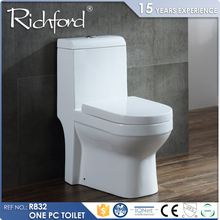 new model customized glazing floor mounted flush toilet