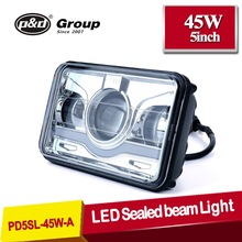 Auto parts IP 68 4X6 led sealed beam headlights sizes,4X6 led headlight DOT Approved