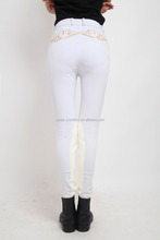 Embroidered flower pattern design white color adult jodhpurs