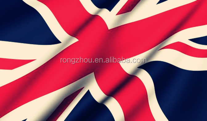 wholesale printed England flag fabric from china textile