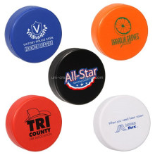 PU stress hockey puck PU form hockey puck squeeze toy PU stress reliever hockey puck
