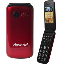 "Russian keyboard VKWORLD Z2 flip clamshell mobile phone 2.4"" Dual SIM Big Fonts FM SOS Arabic Keyboard old man cellphone"