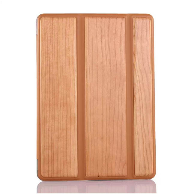 for ipad air 2 wood leather case, for ipad air 2 flip leather case