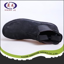 factory supply leather safety boots rubber outsole