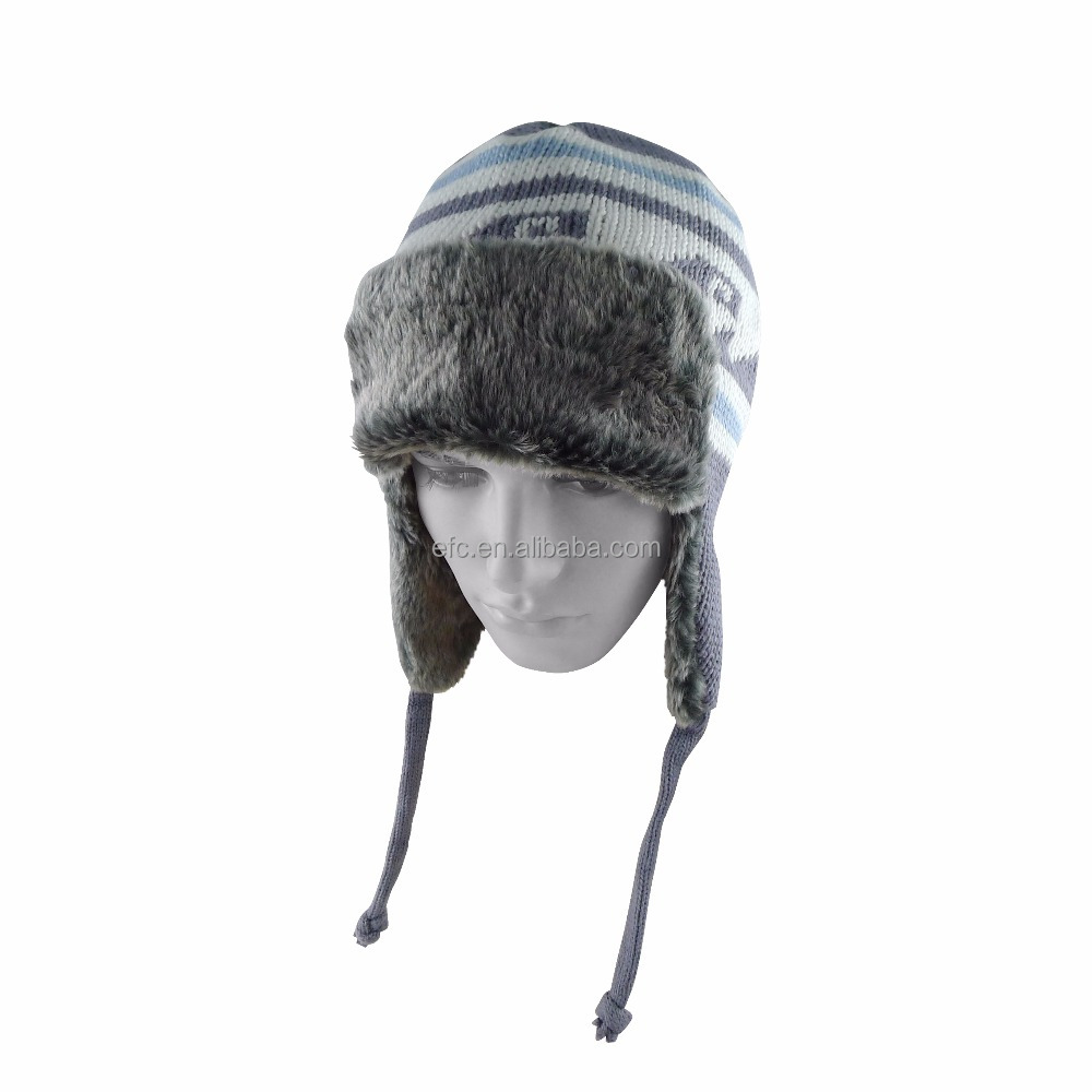 Crochet Kids Baby Infant Toddler Winter Earflap Beanie Knitted Hats Skull Caps Ski