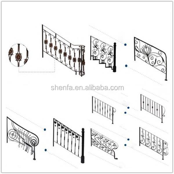 Decorative metal spiral stair ornament railing outdoor wrought iron railings