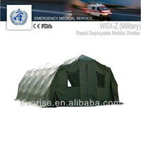 camo rapid deployable mobile shelter; medical equipment; emergency; health care facilities; caregiver; outdoor furniture