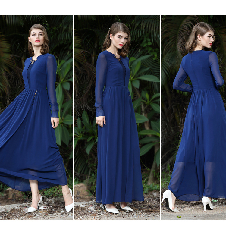 wholesale fashion chiffon evening muslim maxi long dresses