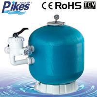 Fiberglass sand filter tank for water treatment / Side-Mount swimming pool sand filter