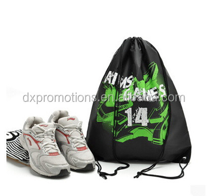 CUSTOM 210T polyester drawstring bag/drawstring backpack