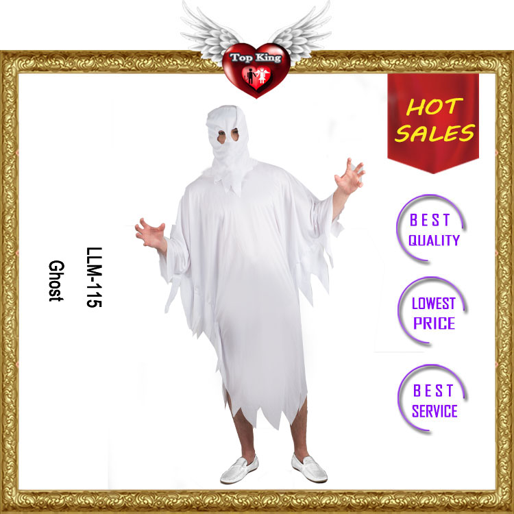 Best selling Carnival White Mascot Costume for Man