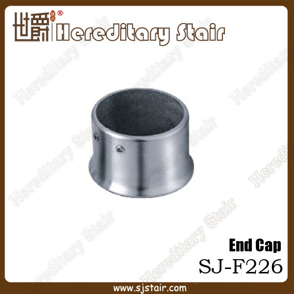 Satin finish stainless steel stair handrail end cap