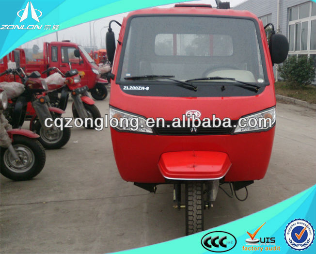 2016 China motorized cargo three wheeler with side doors and windows