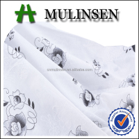Mulinsen Textile High Quality Plain Woven Printed Voile Embroidery Fabric 100 Cotton