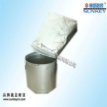 Aluminum foil round bottom bags disposable container for glue packaging