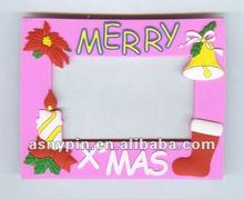 2013 newest Christmas soft pvc photo frame,Xmas picture frame