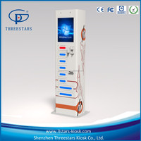 remote control fast charge no power bank indoor charging station kiosk with electronic locker
