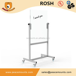 GB03 Business used freestanding magnetic movable glossy surface color customized magnetic whiteboard
