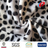 100 Polyester Animal Print Velboa Classic Car Fabric VB136
