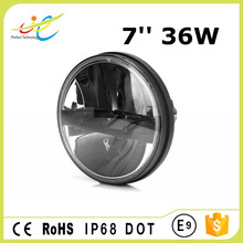 Best price 7'' round working headlight 36w high/low beam led driving light