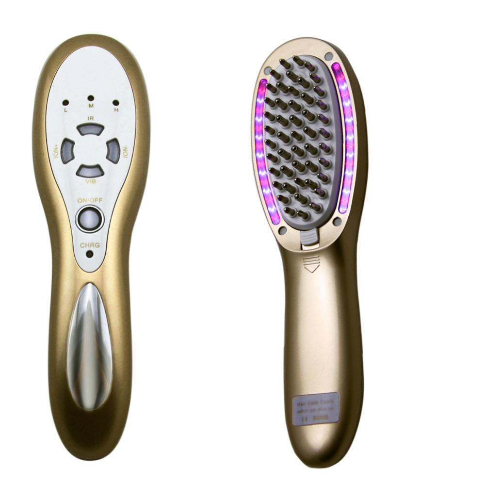 4 IN 1 Laser Bio Wave Led Light Micro Current Vibrating Hair Regrowth Growth Nourish Comb Anti Hair Loss Hair Care Massager Comb