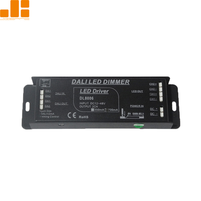 2 channel led dimmer cct pwm constant current dali controller