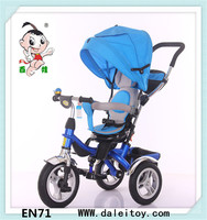 2017 Hot selling plastic tricycle kids bike / China tricycle baby stroller / child tricycle with canopy and EVA wheel