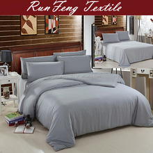 Luxury solid color tencel lyocell bed fitted sheet with pillow case