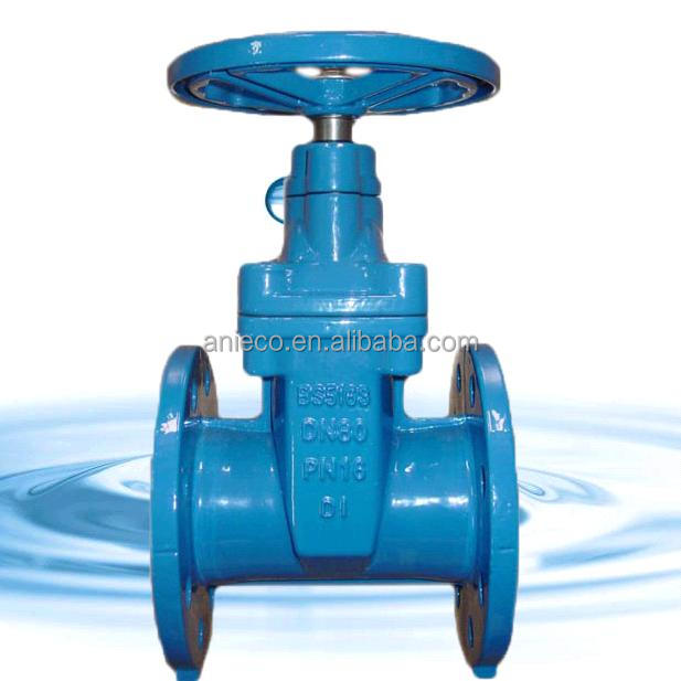 BS5163 ggg40/50 resilient seated gate valve EPDM/NRS sealing pn10/16 made in China