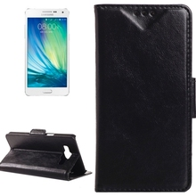 Oil Skin Texture Horizontal Flip Leather Case with Card Slots & Wallet & Holder for Samsung Galaxy A5