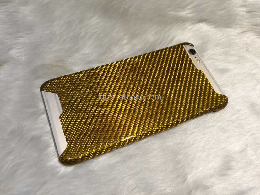 GOLD 100% 3K Real Carbon Aramid Hybrid Case For Apple iPhone 6 6s