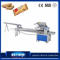 Skywin on edge Biscuit Cookies Bread Flow Packing Machine