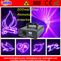 LV820RB 200mW Rose 10kpss ILDA Animation laser Light