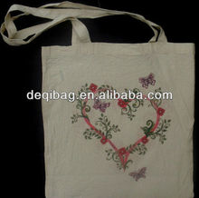 Wholesale Butterfly Flowers Cotton Shopper Tote Shoulder Shopping bag hot sale