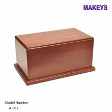 MKY Funeral Burial Solid Wood Cremation Ashes Urn Modern Casket