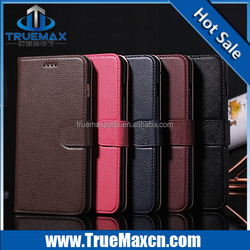 Newest for iPhone 6 real leather case, for iPhone 6 lichee wallet case