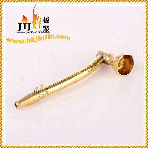 JL-003 Yiwu Jiju New Arrival 2016 Zinc Stem Brass Gold Smoking Pipe Parts