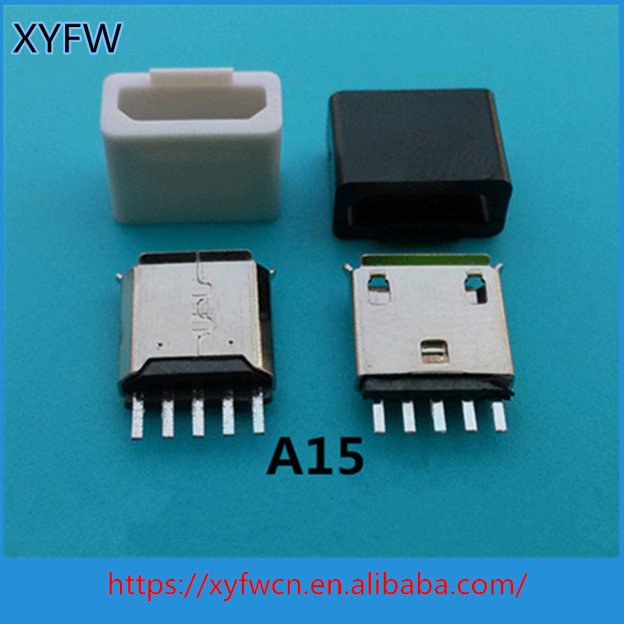 5P high quality OEM ODM micro female usb connector