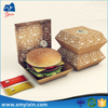 Best quality whoesale cheap packing cardboard burger box