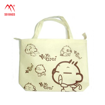 Popular Lightweight printed Drawstring Cotton drawstring Bag