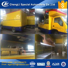 CLW 2017 new car 4x2 6 wheel mobile kitchen fast food car for selling BBQ fried food on the street
