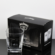 OEM unique jack daniels whisky glass and square whisky glass for gifts