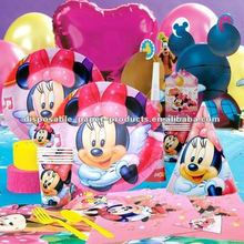 Wholesale Minnie Mouse Party Supplies/Minnie Mouse Partyware /Girls Birthday Party Supplies Tableware