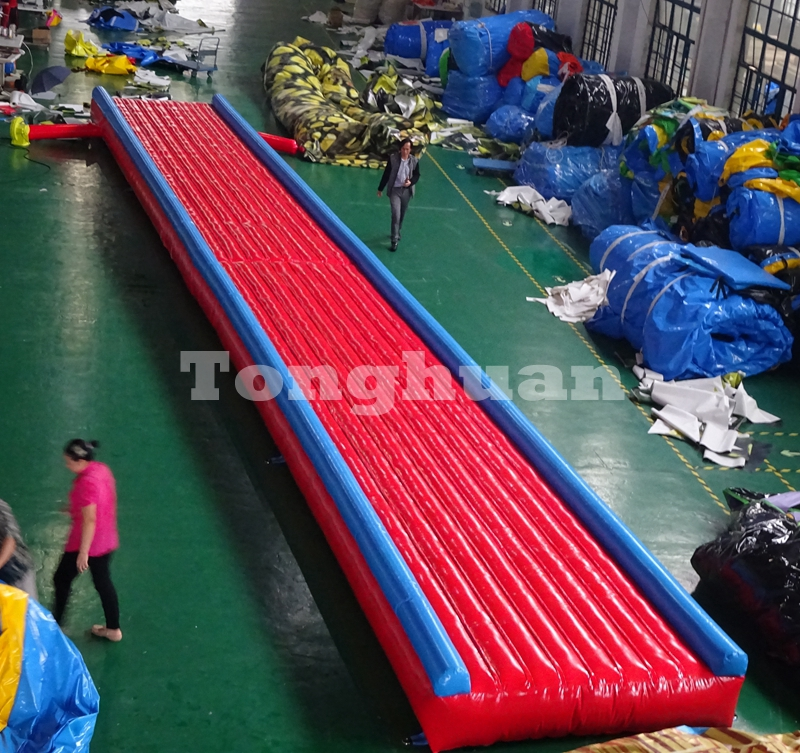 inflatable air tumble track for gymnastics