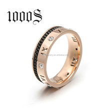 Wholesale Titanium Ring For 316L Stainless Steel Rings Roman Numerals Engagement Wedding Ring