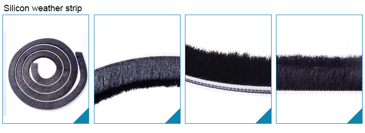 Excellent material factory directly provide Adhes Strip Brush For Slide Door With Fin