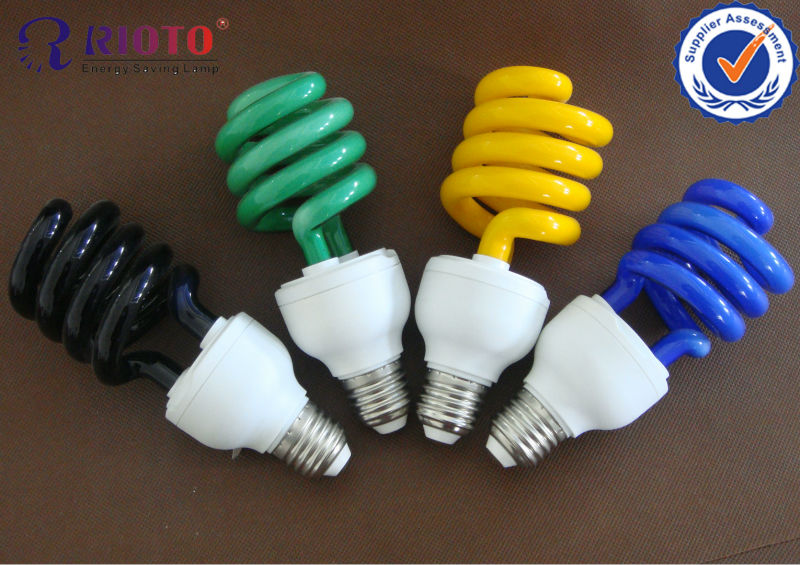 compact fluorescent lamp colorful Spiral CFL Lamps ESL bulbs