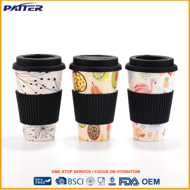 latest produc factory supply printed logo on nature bamboo cup