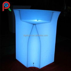 led outdoor furniture shining bar counter for outdoor table set for party event wedding decoration