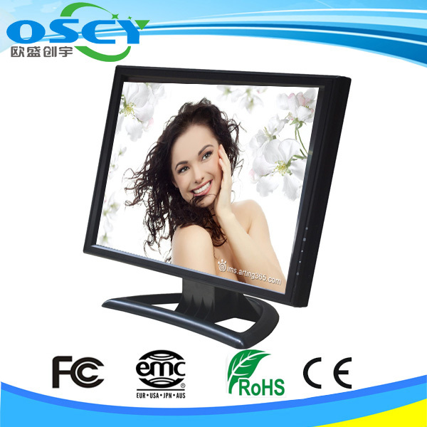 LCD touch digitizer screen monitor standrand with 4 wire resistive touch (5 wire is optional )